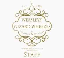 Weasleys' Wizard Wheezes V3 Staff (Distressed Gold) Kids Tee