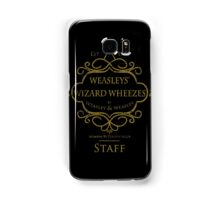 Weasleys' Wizard Wheezes V3 Staff (Distressed Gold) Samsung Galaxy Case/Skin