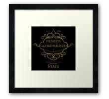 Weasleys' Wizard Wheezes V3 Staff (Distressed Gold) Framed Print