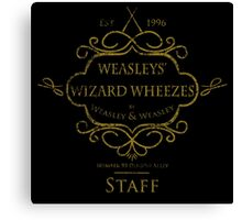 Weasleys' Wizard Wheezes V3 Staff (Distressed Gold) Canvas Print