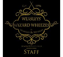 Weasleys' Wizard Wheezes V3 Staff (Distressed Gold) Photographic Print