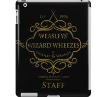 Weasleys' Wizard Wheezes V3 Staff (Distressed Gold) iPad Case/Skin