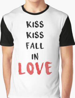 Kiss Kiss fall in Love Graphic T-Shirt