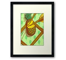 Psychedelic Pineapple Framed Print