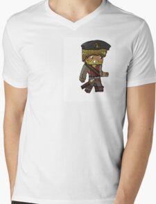 Cartoon Minecraft Pirate Mens V-Neck T-Shirt