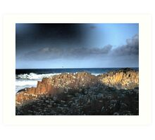 The Giant's Causeway, Northern Ireland~March Shadows Art Print