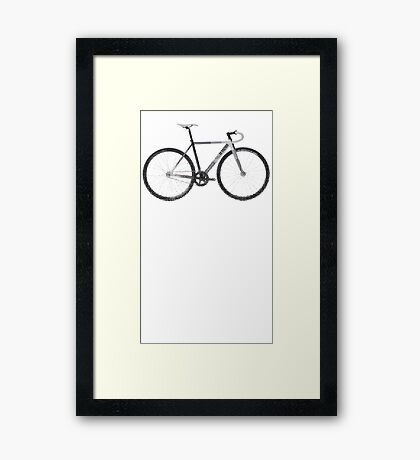 fixed gear mash Framed Print