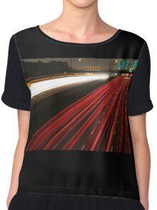 Long Exposure Highway  Chiffon Top