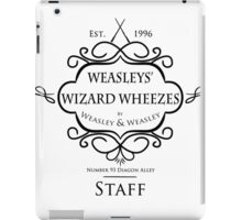 Weasleys' Wizard Wheezes V3 Staff Shirt iPad Case/Skin