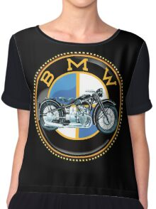 Vintage BMW motorcycles Chiffon Top