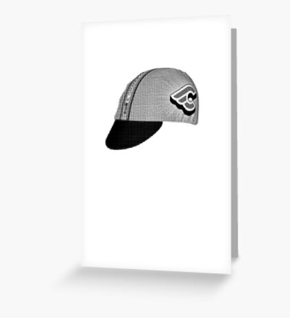 fixed gear mash hat Greeting Card