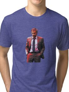 Jose Mourinho is a red #mufc (T-shirt, Phone Case & more) Tri-blend T-Shirt