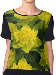 Yellow Blooms Women's Chiffon Top