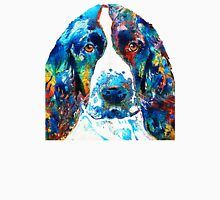 Colorful English Springer Spaniel Dog by Sharon Cummings Unisex T-Shirt