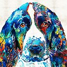 Colorful English Springer Spaniel Dog by Sharon Cummings by Sharon Cummings