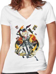 Oz the Rabbit (Pandora Hearts) Women's Fitted V-Neck T-Shirt