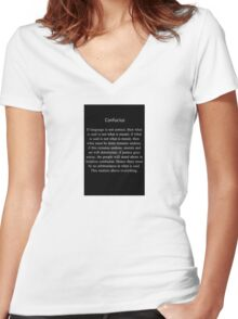 Confucius Says Women's Fitted V-Neck T-Shirt