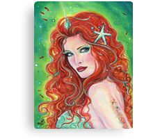 Fire and ice mermaid art by Renee Lavoie Canvas Print