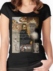 michaelangelo Women's Fitted Scoop T-Shirt