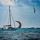 Cancun Skyline from Isla Mejures by Yukondick