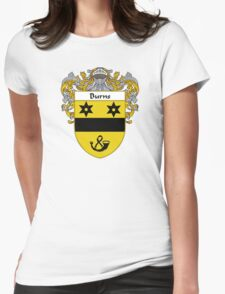 Burns Coat of Arms/Family Crest Womens Fitted T-Shirt