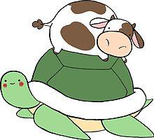 Little Cow Big Turtle by SaradaBoru