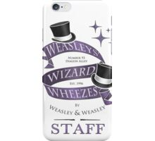 Weasleys' Wizard Wheezes Staff Shirt iPhone Case/Skin