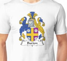 Burton Coat of Arms / Burton Family Crest Unisex T-Shirt