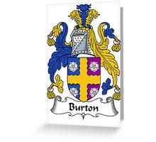 Burton Coat of Arms / Burton Family Crest Greeting Card