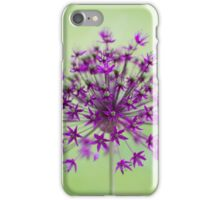 Spring flower macro isolated on green meadow background iPhone Case/Skin
