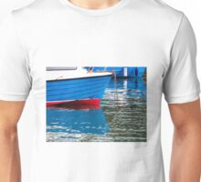 Blue Boats At The Harbour Unisex T-Shirt