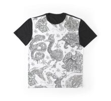 Animal Find-a-Thing Pattern Graphic T-Shirt