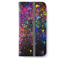 Splatter- black version iPhone Wallet/Case/Skin