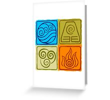 The Four Elements - Avatar: The Last Airbender Greeting Card