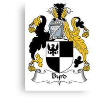 Byrd Coat of Arms / Byrd Family Crest Canvas Print