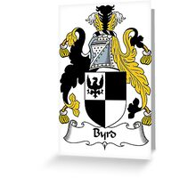Byrd Coat of Arms / Byrd Family Crest Greeting Card