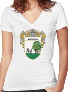 Callahan Coat of Arms/Family Crest Women's Fitted V-Neck T-Shirt
