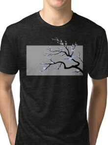Sakura Blue v2 - Adjusted for darker colors Tri-blend T-Shirt