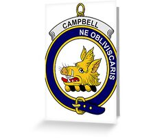 Campbell Clan Badge Greeting Card