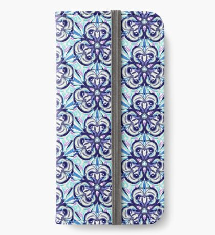 Blue explosion iPhone Wallet/Case/Skin