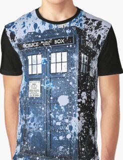 Blue Box Dispersion Graphic T-Shirt