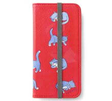 Standing, Sleeping, Sitting Still (red) iPhone Wallet/Case/Skin