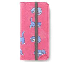 Standing, Sleeping, Sitting Still (fuchsia) iPhone Wallet/Case/Skin