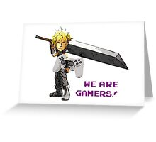 Inspired by Cloud of Final Fantasy VII  Greeting Card