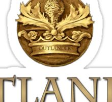 Outlander title and thistle  Sticker
