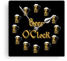 Beer O'Clock Canvas Print