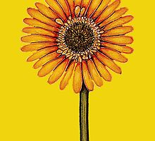 Yellow Gerbera by YouBeaut Designs