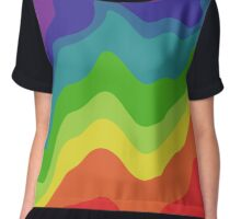 Melting Rainbow Chiffon Top