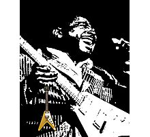 The King of the Blues Guitar Photographic Print