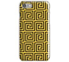 Taxi Yellow and Black Greek Key Interlocking Repeating Square Pattern iPhone Case/Skin